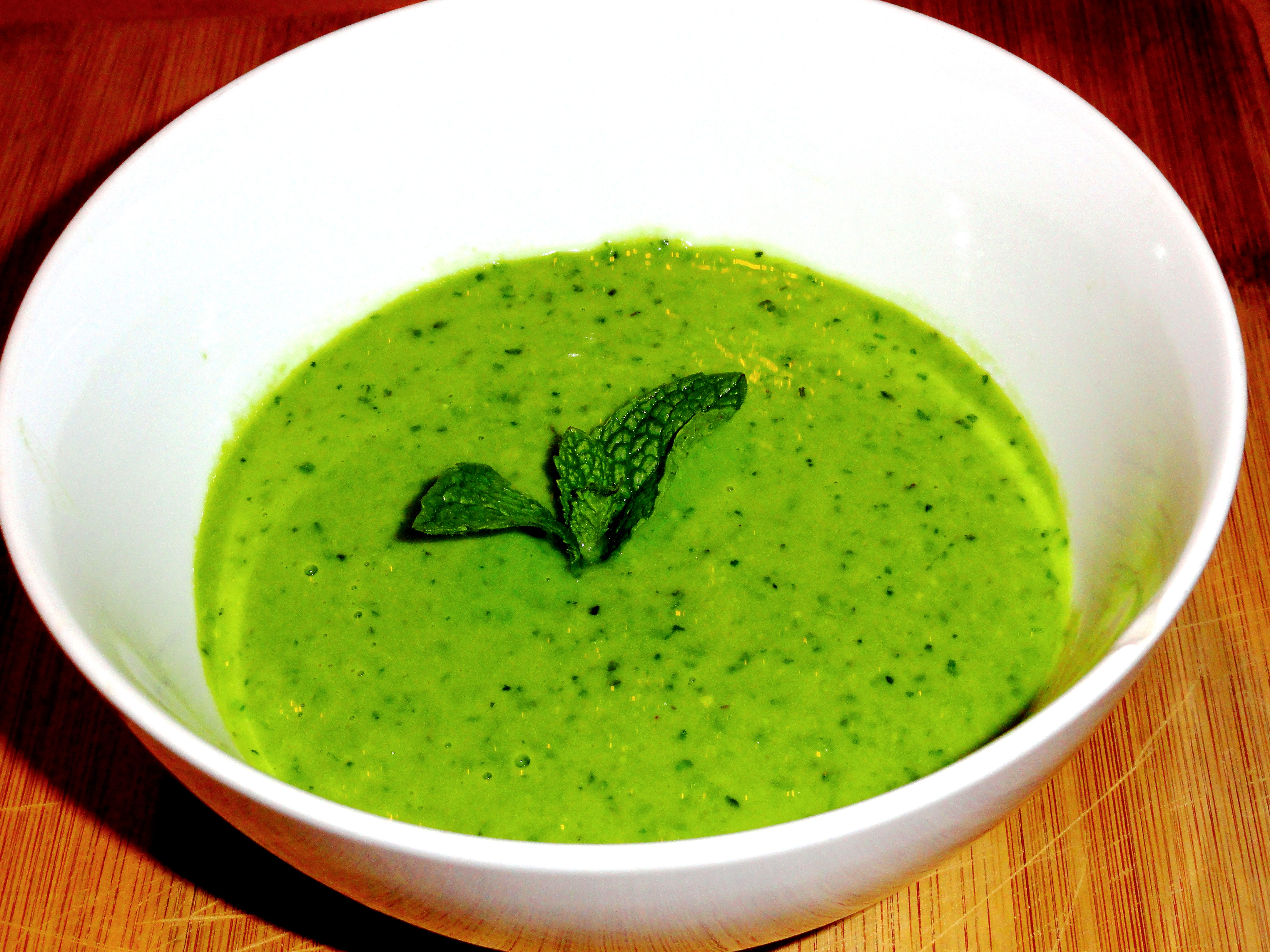 Simple Soup RecipeSpring Sweet Pea and Mint Soup The Lucky Penny