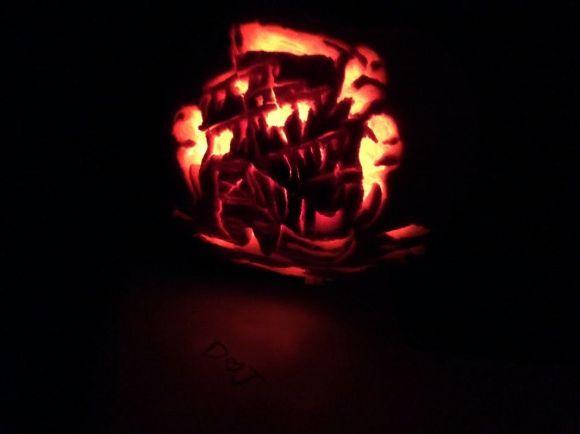 Haunted Ghost Ship pumpkin 2014!